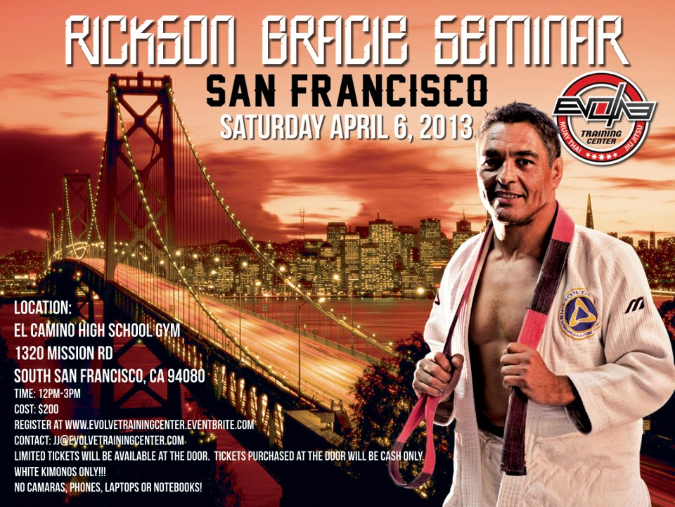 Rickson Gracie Seminar in South San Francisco, 6 April, 2013